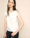 Relaxed Tee With Lace Yoke Panel