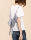 Faux Double Layered Front Tie Top