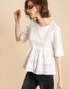Cotton Eyelet Lace Baby Doll Top