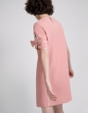 Shift Dress With Knotted Sleeves