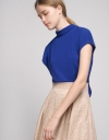 Cap-Sleeved Top With Self-Tie Back