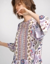 Belled Sleeves Gathered Shift Dress