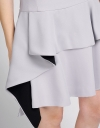 Shift Dress With Cascading Layered Hem