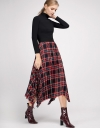 Pleated Skirt With Asymmetric Hem