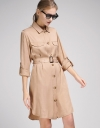 Sleeved Belted Trench Coat