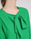 Sleeved Shirt With Tied Neck