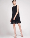 Shift Dress With Pleated Hem