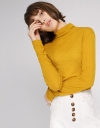 High Neck Knit Blouse