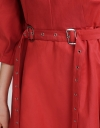 Puff Sleeved Dress With Belt