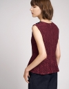 Guipure Lace Top With Pleated Hem