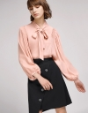 Bell Sleeved Blouse With Tied Neck