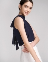 Pleated Top With Self-Tie Back