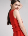 Fitted Dress With Contrast Layered Back