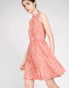 Printed Dress With Pleated Skirt