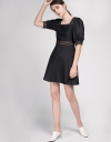 Shift Dress With Contrast Panels
