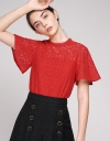 Lace Top With Bell Sleeves