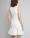 Fitted Jacquard Dress With Flouncy Hem