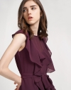 Belted Romper With Ruffles