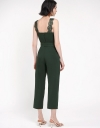 Lace Trimmed V-Neck Jumpsuit