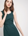 Strappy Fitted Eyelet Cotton Dress