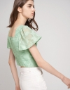 Bell Sleeved Jacquard Top