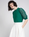 Lace Sleeved Top