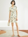 A-Line Floral Dress With Gathered Waist