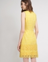 Tweed Dress With Lace-Trimmed Hem