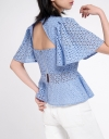 Embroidered Top With Cut-Out Back