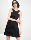 Strappy Fitted Dress With Pleated Skirt