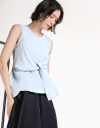 Sleeveless Top With Twisted Detail
