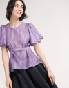 Bell Sleeved Tied Blouse