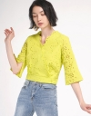 Sleeved Embroidered Top
