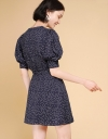 Sleeved Wrap Dotted Dress