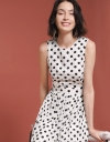 Polka Dotted Dress With Asymmetric Hem