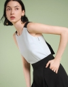 Sleeveless Top With Tied Back