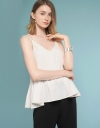 Strappy Top With Gathered Hem