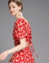Floral Dress With Cut-Out Back