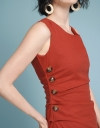 Sleeveless Fitted Dress With Buttons