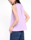 Sleeveless Top With Button Front