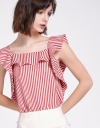 Striped Top With Ruffles