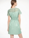Lace-Trimmed Dress With Elasticated Waist