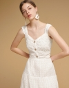 Sweetheart-Neck Embroidered Dress