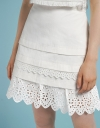 Layered Skirt With Embroidered Hem