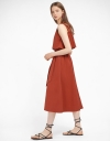 Layered Midi Dress With Elasticated Waist