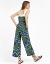 Floral Wide-Leg Jumpsuit With Pockets