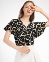 Bell Sleeved Printed Top