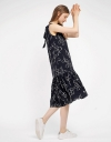 Sleeveless Floral Dress With Tied Back