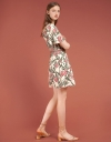 Wrap Floral Printed Dress With Pockets