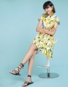 A-Line Floral Dress With Elasticated Waist